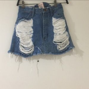 LF - Furst of a Kind Jean Skirt